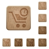 Instant purchase wooden buttons - Instant purchase on rounded square carved wooden button styles