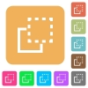 Bring element to front rounded square flat icons - Bring element to front flat icons on rounded square vivid color backgrounds.