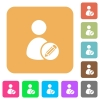 Edit user account rounded square flat icons - Edit user account flat icons on rounded square vivid color backgrounds.