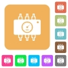 Hardware diagnostics rounded square flat icons - Hardware diagnostics flat icons on rounded square vivid color backgrounds.