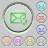 Delete mail push buttons - Delete mail color icons on sunk push buttons