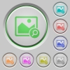Zoom image push buttons - Zoom image color icons on sunk push buttons