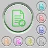Default document push buttons - Default document color icons on sunk push buttons