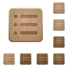 Unordered list wooden buttons - Unordered list on rounded square carved wooden button styles