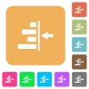 Increase right indentation of content rounded square flat icons - Increase right indentation of content flat icons on rounded square vivid color backgrounds.
