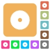 Circular saw rounded square flat icons - Circular saw flat icons on rounded square vivid color backgrounds.