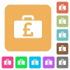 Pound bag rounded square flat icons - Pound bag flat icons on rounded square vivid color backgrounds.