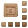 Application delete wooden buttons - Application delete on rounded square carved wooden button styles