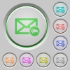 Mail reply to all recipient push buttons - Mail reply to all recipient color icons on sunk push buttons