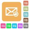 Undelete mail rounded square flat icons - Undelete mail flat icons on rounded square vivid color backgrounds.