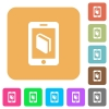 E-book rounded square flat icons - E-book flat icons on rounded square vivid color backgrounds.