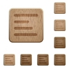 Text align left wooden buttons - Text align left on rounded square carved wooden button styles