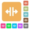 Vertical split tool rounded square flat icons - Vertical split tool flat icons on rounded square vivid color backgrounds.
