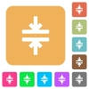 Horizontal merge tool rounded square flat icons - Horizontal merge tool flat icons on rounded square vivid color backgrounds.