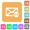 Mail attachment rounded square flat icons - Mail attachment flat icons on rounded square vivid color backgrounds.