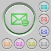 Mail options push buttons - Mail options color icons on sunk push buttons