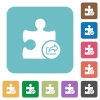 Export plugin white flat icons on color rounded square backgrounds - Export plugin rounded square flat icons
