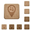 Fleet tracking wooden buttons - Fleet tracking on rounded square carved wooden button styles