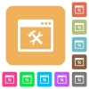 Application tools rounded square flat icons - Application tools flat icons on rounded square vivid color backgrounds.