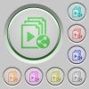 Share playlist push buttons - Share playlist color icons on sunk push buttons