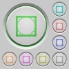 Rounded corner settings push buttons - Rounded corner settings color icons on sunk push buttons