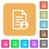 Document owner rounded square flat icons - Document owner flat icons on rounded square vivid color backgrounds.