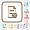 Document tools simple icons - Document tools simple icons in color rounded square frames on white background
