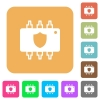 Hardware protection rounded square flat icons - Hardware protection flat icons on rounded square vivid color backgrounds.