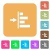 Increase left indentation of content rounded square flat icons - Increase left indentation of content flat icons on rounded square vivid color backgrounds.