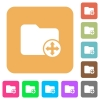 Move directory rounded square flat icons - Move directory flat icons on rounded square vivid color backgrounds.