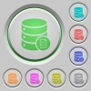 Database properties push buttons - Database properties color icons on sunk push buttons