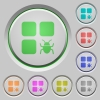 Component bug color icons on sunk push buttons - Component bug push buttons