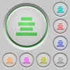 Text align center push buttons - Text align center color icons on sunk push buttons