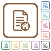 Default document simple icons - Default document simple icons in color rounded square frames on white background