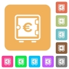 Euro strong box rounded square flat icons - Euro strong box flat icons on rounded square vivid color backgrounds.