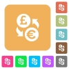 Pound Euro money exchange rounded square flat icons - Pound Euro money exchange flat icons on rounded square vivid color backgrounds.