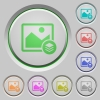 Image layers color icons on sunk push buttons - Image layers push buttons