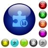 Save plugin color glass buttons - Save plugin icons on round color glass buttons
