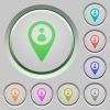Member GPS map location push buttons - Member GPS map location color icons on sunk push buttons