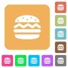 Single hamburger rounded square flat icons - Single hamburger flat icons on rounded square vivid color backgrounds.