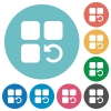 Undo component operation flat round icons - Undo component operation flat white icons on round color backgrounds