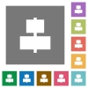 Align to center square flat icons - Align to center flat icons on simple color square backgrounds
