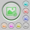 Disabled image push buttons - Disabled image color icons on sunk push buttons