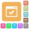 Application ok flat icons on rounded square vivid color backgrounds. - Application ok rounded square flat icons