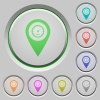 Speedcam GPS map location push buttons - Speedcam GPS map location color icons on sunk push buttons