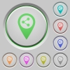 Share GPS map location push buttons - Share GPS map location color icons on sunk push buttons
