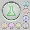 Empty flask push buttons - Empty flask color icons on sunk push buttons