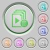 Delete entire playlist push buttons - Delete entire playlist color icons on sunk push buttons
