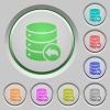 Database transaction rollback push buttons - Database transaction rollback color icons on sunk push buttons