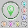 Call box GPS map location push buttons - Call box GPS map location color icons on sunk push buttons